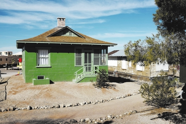 An old railroad cottage is seen at the Clark County Museum in Henderson Thursday. The cottage was moved from Las Vegas to the museum and will be open to the public.  (John Locher/Las Vegas Review- ...