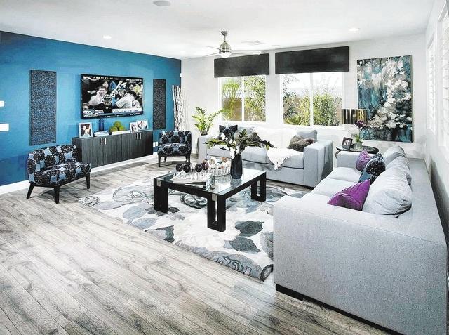 Courtesy photo Ryland Homes' Evergreen neighborhood at Mountain's Edge showcases the builder's Cypress floor plan.