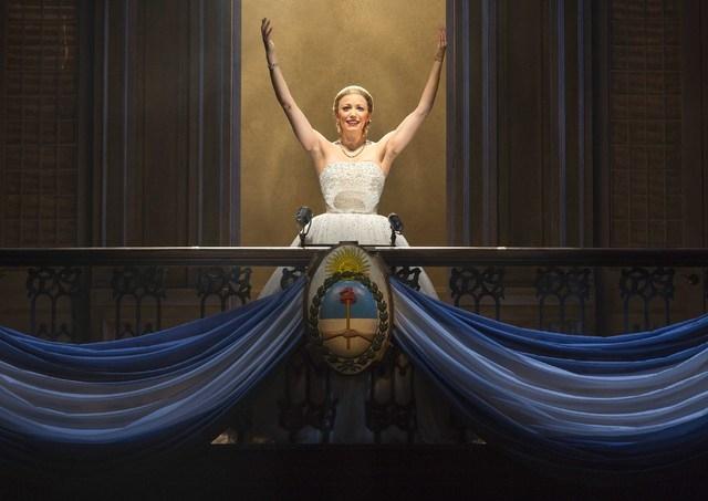 "Caroline Bowman stars as Eva Peron in ""Evita,"" which begins an eight-performance run Tuesday in The Smith Center's Reynolds Hall. (RICHARD TERMINE/COURTESY)"