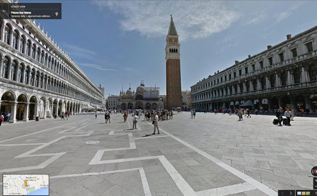 The Piazza San Marco, where you can discover Doge's Palace, St. Mark's Basilica, the bell tower, the Marciana National Library and the clock tower. (Google)