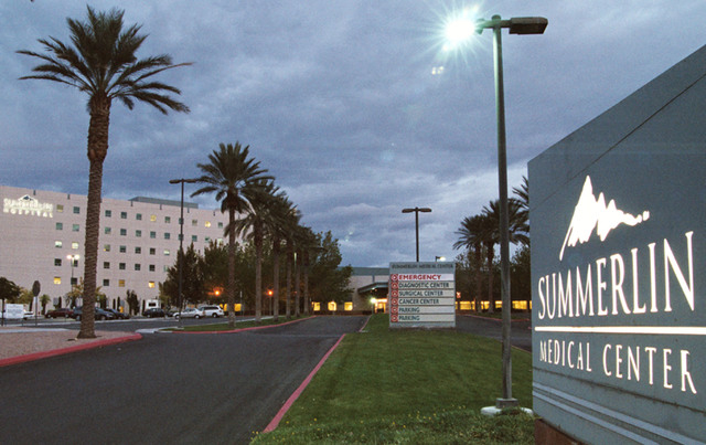 Summerlin Hospital and Medical Center is shown in this Saturday, Nov. 5, 2005 file photo. (Todd Lussier/Las Vegas Review-Journal)