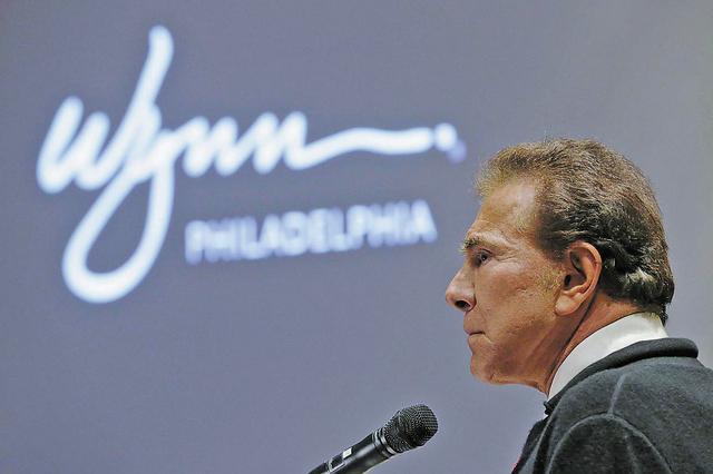 FILE - In the Feb. 12, 2013, file photo casino mogul Steve Wynn addresses the  Pennsylvania Gaming Control Board in Philadelphia. The University of Iowa announced Thursday, Aug. 8, 2013, Wynn will ...