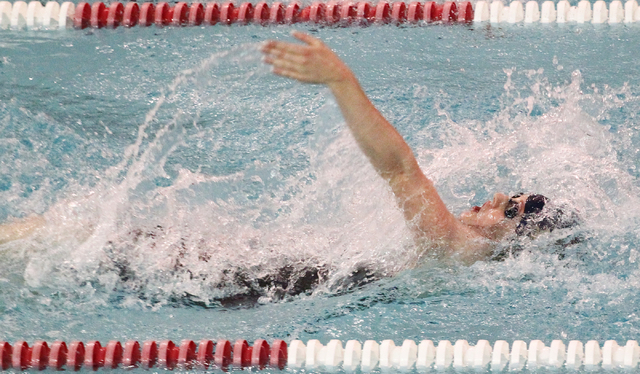 California's Missy Franklin, who won four gold medals in the 2012 London Olympics, leads to win in the Women 200 Yard Individual Medley during the UNLV Fall Invitational at the Buchanan Natatorium ...