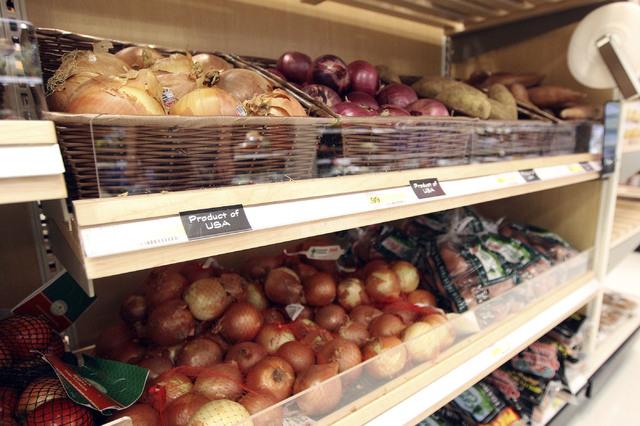 Fresh produce is seen at the Target on north Tenaya Way in Las Vegas, Thursday, Nov. 14, 2013. (Jerry Henkel/Las Vegas Review-Journal)