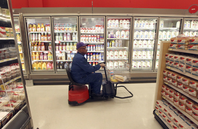Samuel Toston, of Las Vegas, shops at the Target on north Tenaya Way in Las Vegas, Thursday, Nov. 14, 2013. (Jerry Henkel/Las Vegas Review-Journal)