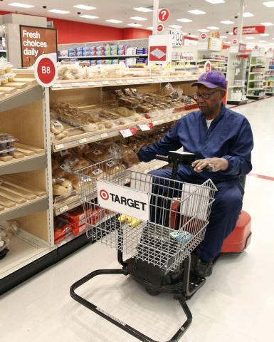 Samuel Toston, of Las Vegas, picks out some fresh bread at the Target on north Tenaya Way in Las Vegas, Thursday, Nov. 14, 2013. (Jerry Henkel/Las Vegas Review-Journal)