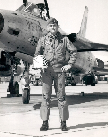 Capt. Gene Devlin was killed in the May 1964 crash of an F-105 Thunderchief at Hamilton Air Force Base, Calif.  (COURTESY)