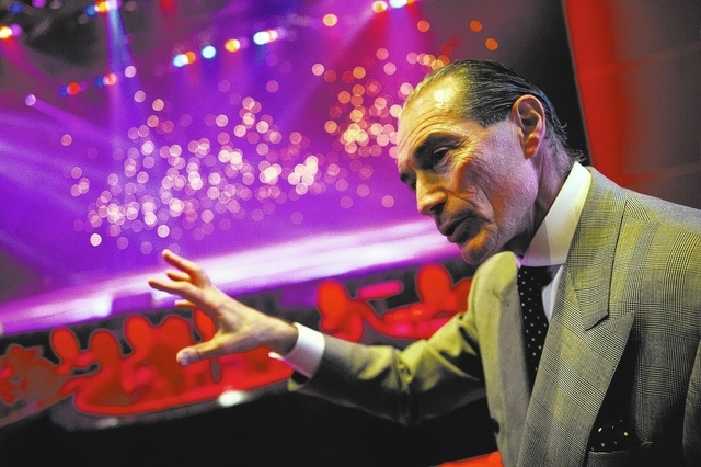 Tropicana Las Vegas CEO Alex Yemenidjian speaks during an interview with the Review-Journal in the newly renovated Tropicana Theater on Monday, Nov. 25, 2013. (Chase Stevens/Las Vegas Review-Journal)