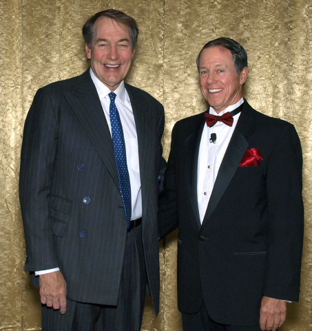 Charlie Rose, left, and John O'Reilly. (Courtesy)