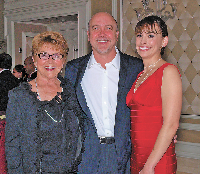 Cheryl Purdue, from left, and Perry and Nicole Rogers. (Courtesy)