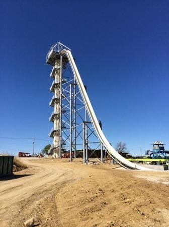 The 17-story drop from the Verrückt water slide, which will be the world's fastest and tallest water slide when it is complete. (Schlitterbahn)