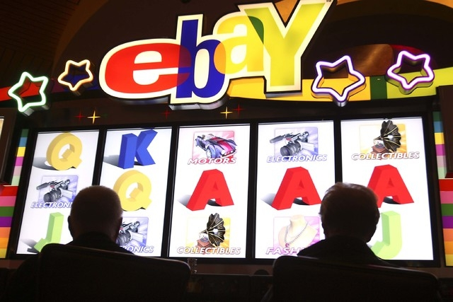Gamblers play the IGT ebay slot machine Thursday, July 17, 2008 at Red Rock Resort. (File, JOHN GURZINSKI/LAS VEGAS REVIEW-JOURNAL)