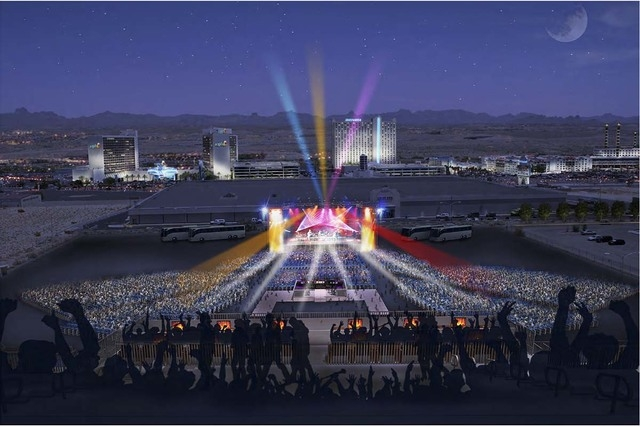 Laughlin Event Center, event stage view. Submitted Nov. 6, 2013. (Courtesy Marnell Architecture)
