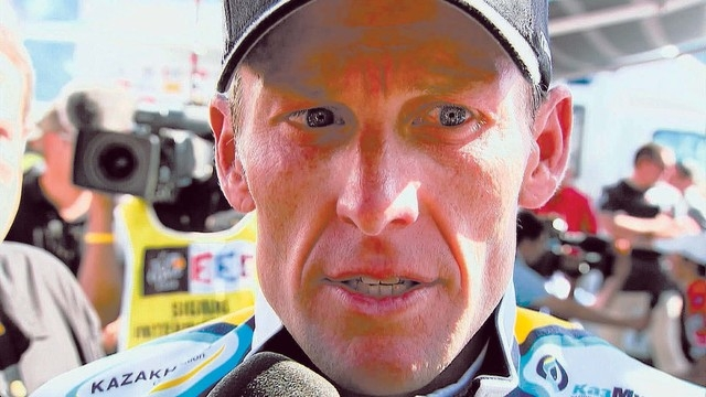 """This photo released by courtesy of Sony Pictures Classics shows Lance Armstrong in the documentary film, """"The Armstrong Lie."""" (AP Photo/Courtesy Sony Pictures Classics, Maryse Alberti)"""