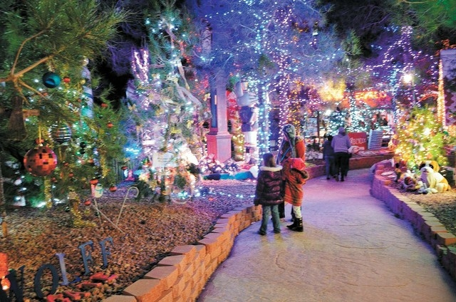 Visitors explore Opportunity Village's Magical Forest in Las Vegas in 2012. (Ginger Meurer/Las Vegas Review-Journal)