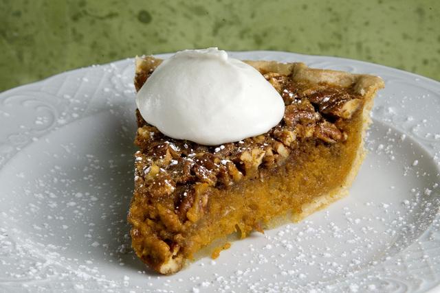 The Sweet Potato Pecan Pie is displayed at Lola's A Louisiana Kitchen restaurant located at 241 W. Charleston Blvd., in Las Vegas on Thursday, Nov. 21, 2013. (Jeferson Applegate/Las Vegas Review-J ...