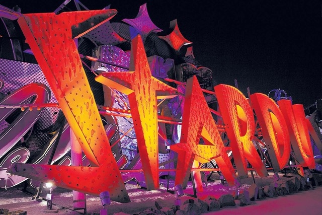 The Neon Museum has the largest collection of vintage neon signage in the world and is a unique record of Las Vegasu2019 colorful history. Featuring more than 150 unrestored signs within a two an ...