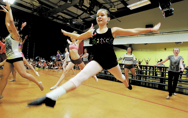 Dancers from Fern Adair Conservatory of the Arts, seen practicing in this 2012 photo, plan a holiday performance at the 25th annual Festival of Trees & Lights at 2 p.m. Nov. 23 at Paris Las Vegas, ...