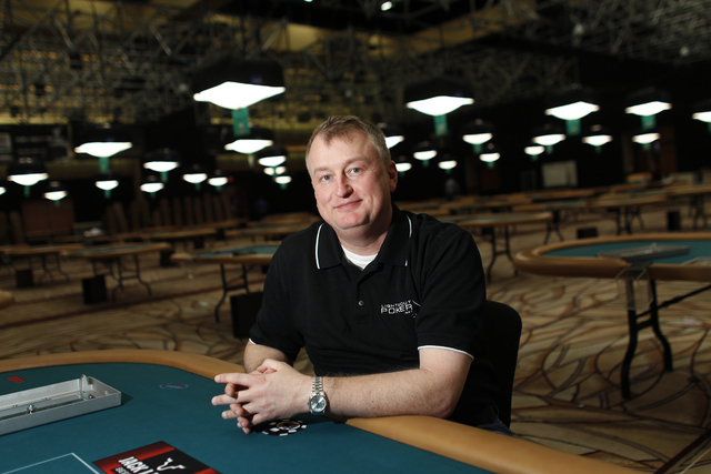 JOHN LOCHER/LAS VEGAS REVIEW-JOURNAL Frank Kassela poses for a picture at a poker table in the Rio convention center  in Las Vegas Thursday, May 26, 2011.