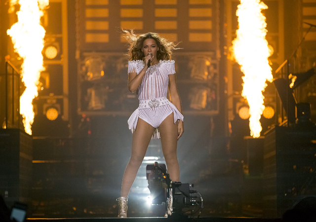 Singer Beyonce performs on stage during her Mrs. Carter Show World Tour 2013, on Wednesday, May 1, 2013, at the O2 Arena in London, UK. (Photo by Yosra El-Essawy/Invision for Parkwood Entertainmen ...