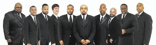 The Las Vegas 10 Tenors plan to perform Dec. 20-21 at the Suncoast, 9090 Alta Drive. From left are Bruce Williamson, Markevius Faulkner, DeSean Horne, Mark McCuthen, Antone Dotson-Parson, Giloh Mo ...