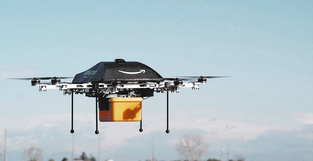 This undated image provided by Amazon.com shows the so-called Prime Air unmanned aircraft project that Amazon is working on in its research and development labs. Amazon says it will take years to  ...