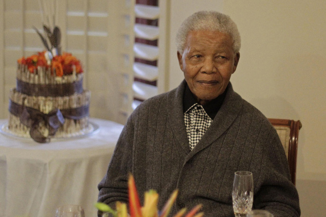 Former South African President Nelson Mandela is shown celebrating his 94th birthday on July 18, 2012,  in Qunu, South Africa. South African President Jacob Zuma announced Thursday that Mandela ha ...