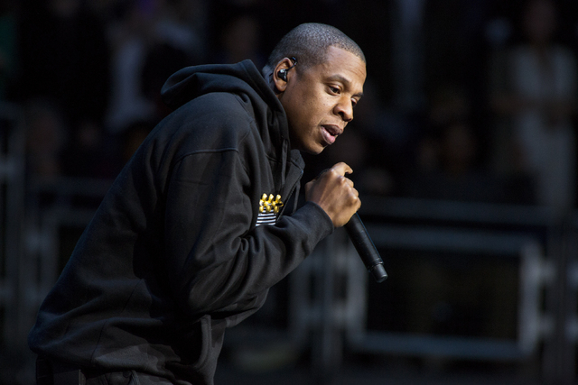 In this Nov. 5, 2012 file photo, Jay-Z performs at the grassroots rally in support of President Barack Obama at the Nationwide Arena, in Columbus, Ohio. Jay-Z was among the top nominees for the 56 ...