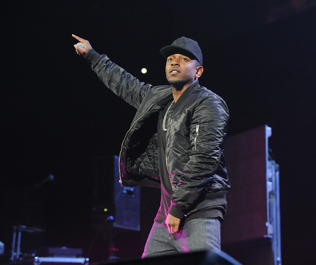 In this Nov. 2, 2013 file photo, Kendrick Lamar attends the Power 105.1's Powerhouse 2013 Concert at the Barclays Center in  the Brooklyn borough of New York. Lamar was among  the top nominees for ...
