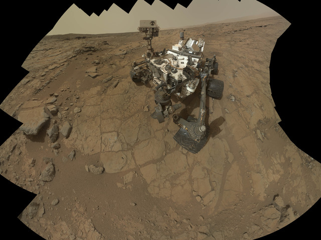 This Feb 3, 2013 image provided by NASA shows a self portrait of the Mars rover, Curiosity. NASA's Curiosity rover has uncovered signs of an ancient freshwater lake on Mars that may have teemed wi ...