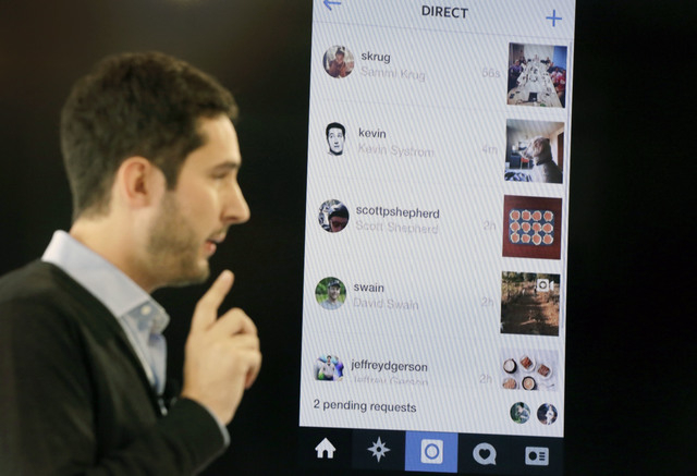 Instagram co-founder Kevin Systrom introduces a new feature, Instagram Direct, that lets users share photos and videos with up to 15 people rather than everyone who follows them on the popular pho ...