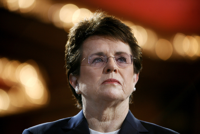 Tennis champion Billie Jean King is shown in a 2007 file photo. The White House says King and U.S. Ambassador to Russia Michael McFaul will join the Sochi Olympics opening ceremony delegation. (AP ...