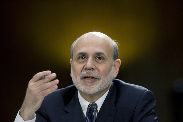 FILE - In this Feb. 26, 2013 file photo, Federal Reserve Board Chairman Ben Bernanke testifies before the Senate Banking Committee hearing on Capitol Hill in Washington. Most economists think the  ...