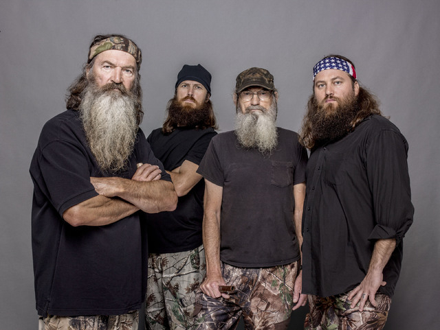 "Phil Robertson, Jase Robertson, Si Robertson and Willie Robertson star in the A&E series ""Duck Dynasty."" The A&E channel says ""Duck Dynasty"" patriarch Phil Robertson is off the show indefinitely a ..."