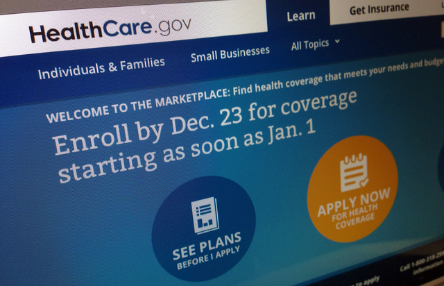 This Dec. 20, 2013, image shows part of the HealthCare.gov website in Washington, that notes to enroll by Dec. 23 for coverage starting as soon as Jan. 1, 2014. Policies will soon take effect in n ...