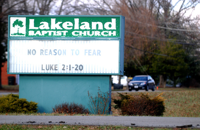 Lakeland Baptist Church in Carbondale, Ill., uses short, catchy phrases with Bible verses on its sign as a teaser to whose who them, encouraging them to discover the meaning within the Bible itsel ...