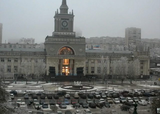 In this photo made by a public camera and made available by the Associated Press Television News an explosion hits the Volgograd railway station on Sunday, Dec. 29, 2013. More then a dozen people  ...