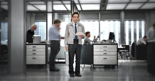 """This film image released by 20th Century Fox shows Ben Stiller in """"The Secret Life of Walter Mitty."""" (AP Photo/20th Century Fox, Wilson Webb)"""