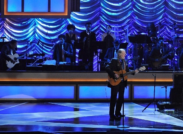 Country music legend Willie Nelson, shown performing at The Smith Center for the Performing Arts opening night-gala on March 10, 2012, will appear Dec. 11 at the Showroom at the Golden Nugget as c ...