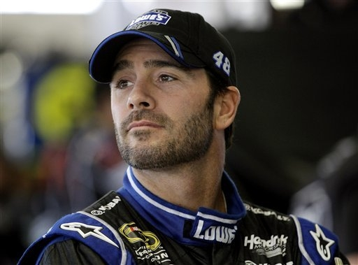 Sprint Cup champion Jimmie Johnson will appear on NASCAR Live from 4 to 5 p.m. Tuesday at the Wynn Las Vegas sports book. (AP Photo/David Duprey)