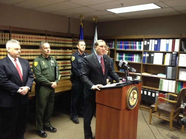Daniel Bogden, U.S. attorney for Nevada, talks about charges filed against Balwinder Singh, 39, of Reno. Singh has been charged with providing material support to terrorism groups in India and Pak ...