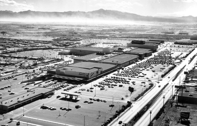 An aerial view provides a glimpse of how the Boulevard Mall and southeast Las Vegas appeared in 1968. At the time, the mall  was the first indoor, climate-controlled shopping center in Nevada. It  ...