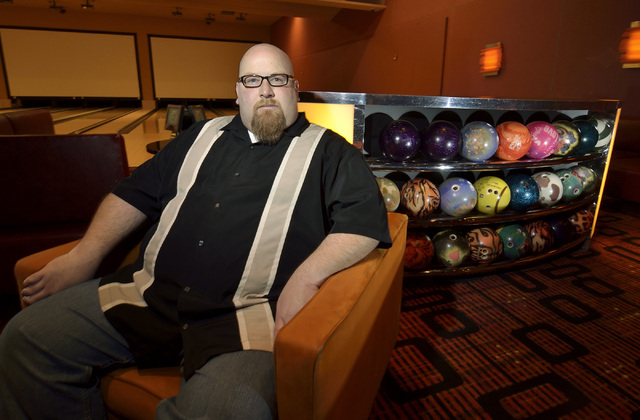 Dennis Mathews, operations manager for Red Rock Lanes, poses in the VIP Lounge on Nov. 20. . (Bill Hughes/Las Vegas Review-Journal)