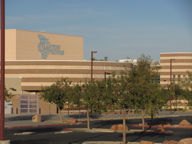 Canyon Springs High School is one of the five high schools being cleaned in the wake of last week's norovirus outbreak linked to a visiting football team. (File, GREG HAAS/LAS VEGAS REVIEW-JOURNAL)