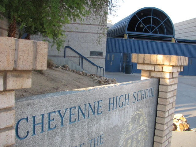 Cheyenne High School is one of the five high schools being cleaned in the wake of last week's norovirus outbreak linked to a visiting football team. (File, GREG HAAS/LAS VEGAS REVIEW-JOURNAL)