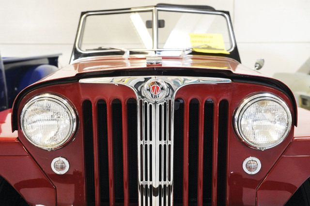 A 1948 Willys Jeepster is seen at Classic & Collectable Cars in Las Vegas, Friday, Dec. 13, 2013. Michael Nicholl, the owner of the business, received an SBA loan to turn a burned-out bakery into  ...