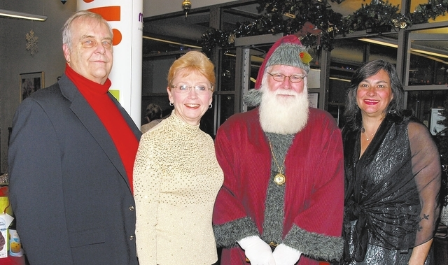 Bob and Diane Collins, from left, Pere Noel and Julie Buckley. (Courtesy)