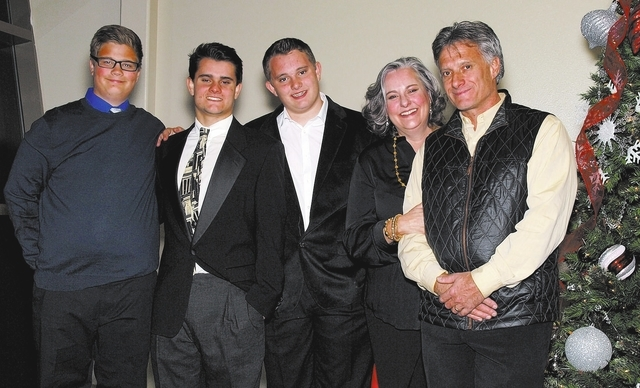 Bryce Fielden, from left, Trevor Spina, Kyle Spina, Laura Jane Spina and Lane Spina. (Courtesy)