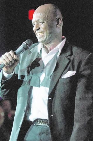 Sean E. Cooper entertains the crowd during his show at Sin City Theatre inside Planet Hollywood hotel-casino in Las Vegas, Saturday, Dec. 7, 2013. (Erik Verduzco/Las Vegas Review-Journal)