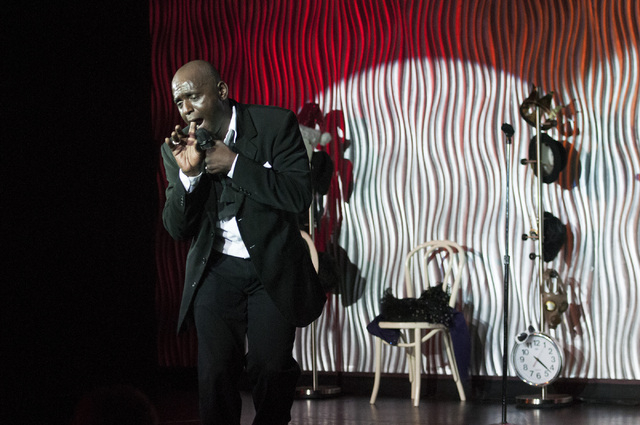 Sean E. Cooper entertains the crowd with comedy during his show at Sin City Theatre inside Planet Hollywood hotel-casino in Las Vegas, Saturday, Dec. 7, 2013. (Erik Verduzco/Las Vegas Review-Journal)